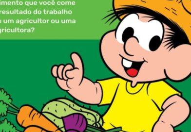 Cartilha da Turma da Mônica defende a agricultura familiar